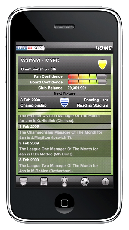 Manage Your Football Club is live for iPhone