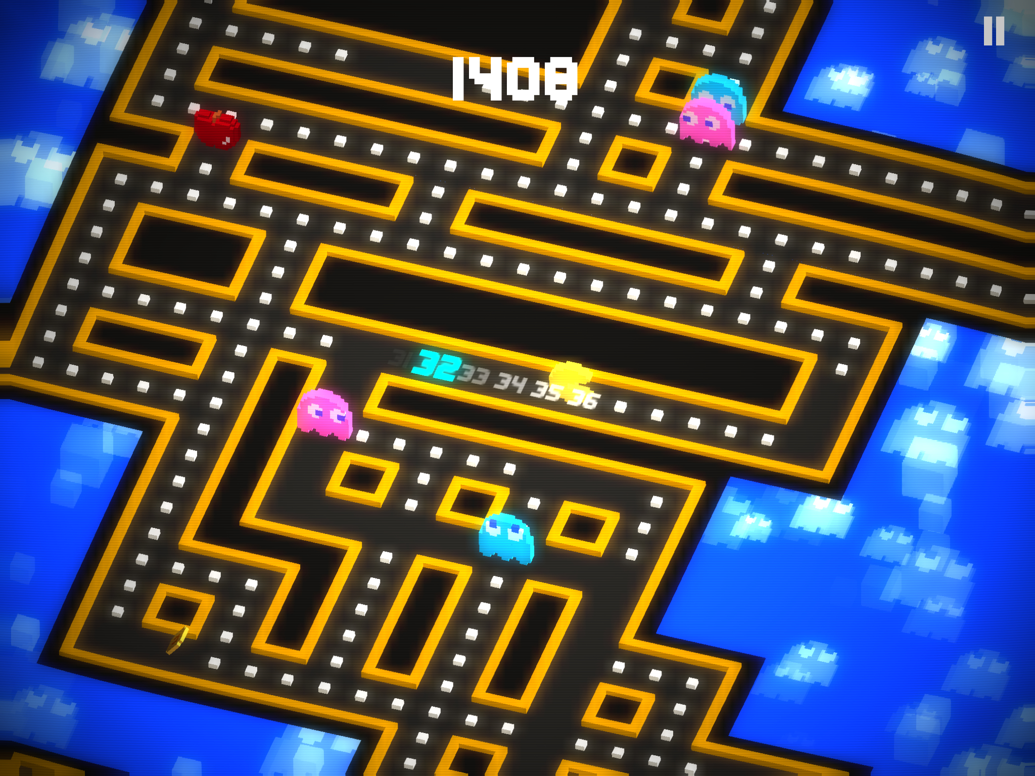 Pac-Man 256 - Endlessly replayable dot-munching