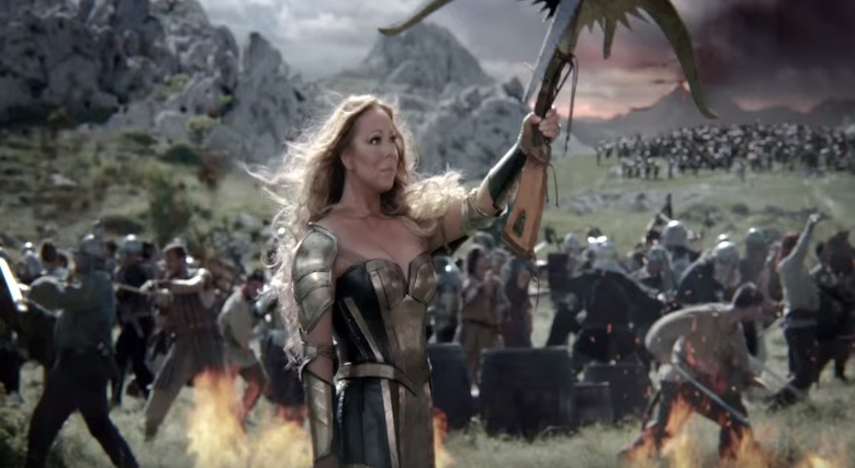 Has Machine Age squished Mariah Carey for her first Game of War ad?
