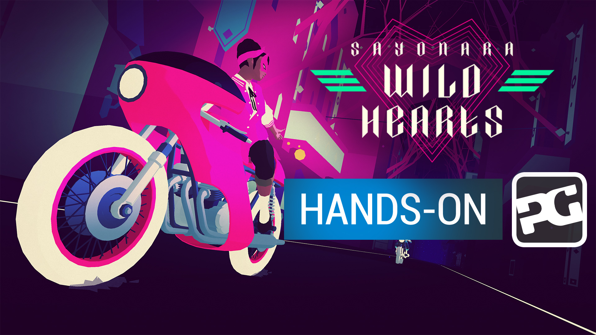 "Sayonara Wild Hearts gameplay video - ""A genre-bending synth explosion"""