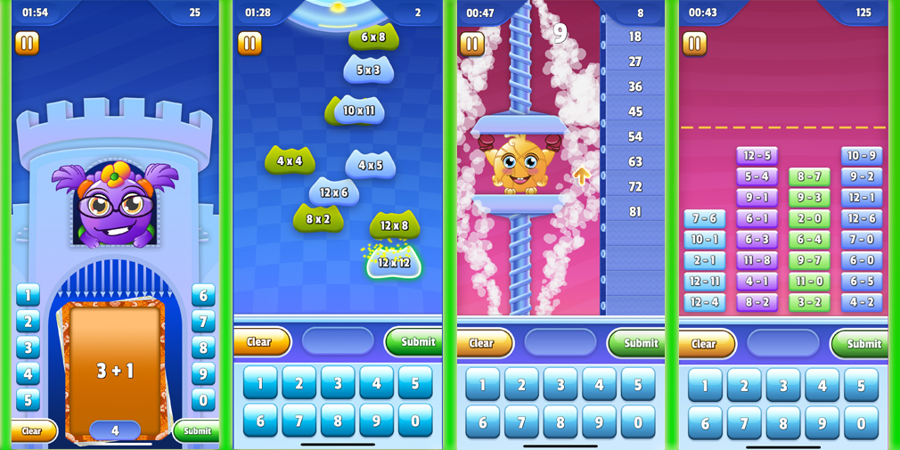 player1games' Mathletix series is the perfect tool for helping children learn math fundamentals in a fun way