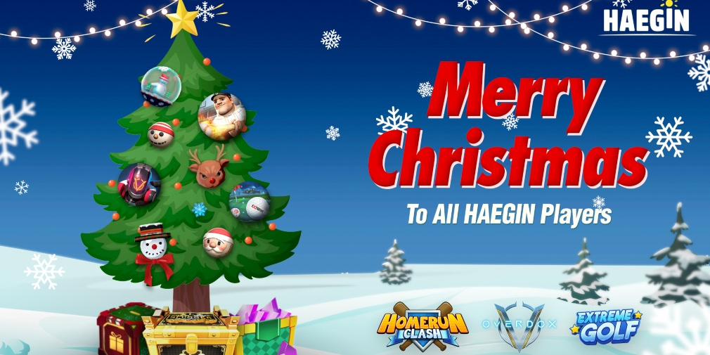 Haegin has announced the Christmas events for Homerun Clash, Overdox and Extreme Golf