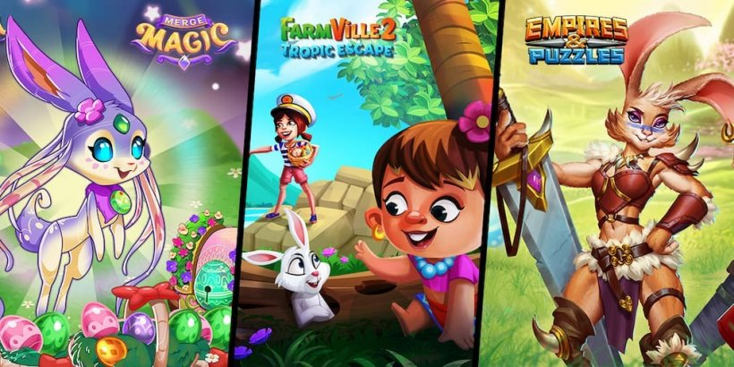 Zynga announces Easter-themed events in Merge Magic, Empires & Puzzles and FarmVille 2 Tropic Escape