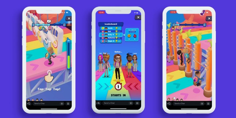 Crazy Run is a real-time multiplayer game for Snapchat that sees players racing through an obstacle course