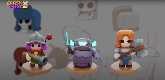 Clash Mini character designs