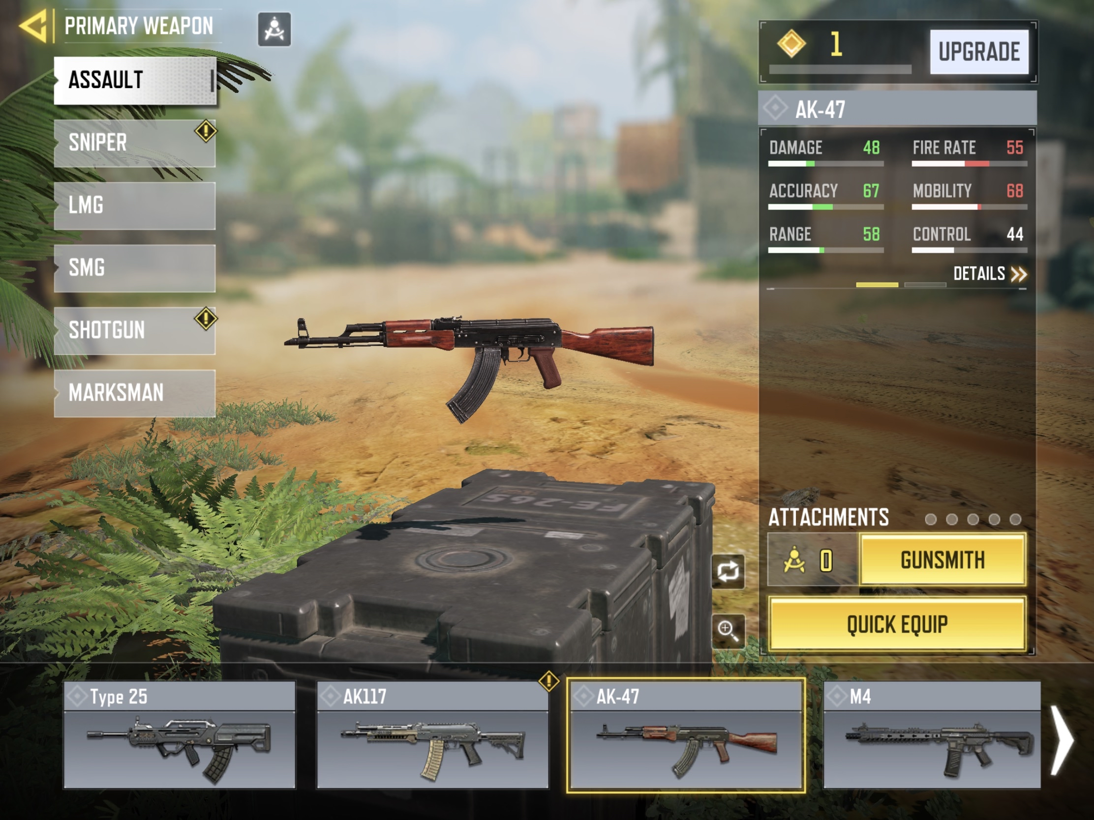 AK-47 - CoD Mobile weapons