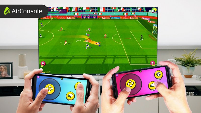 Play soccer with friends and fam through Golazo on AirConsole, the virtual console that lets you play with your phones on PC and TV