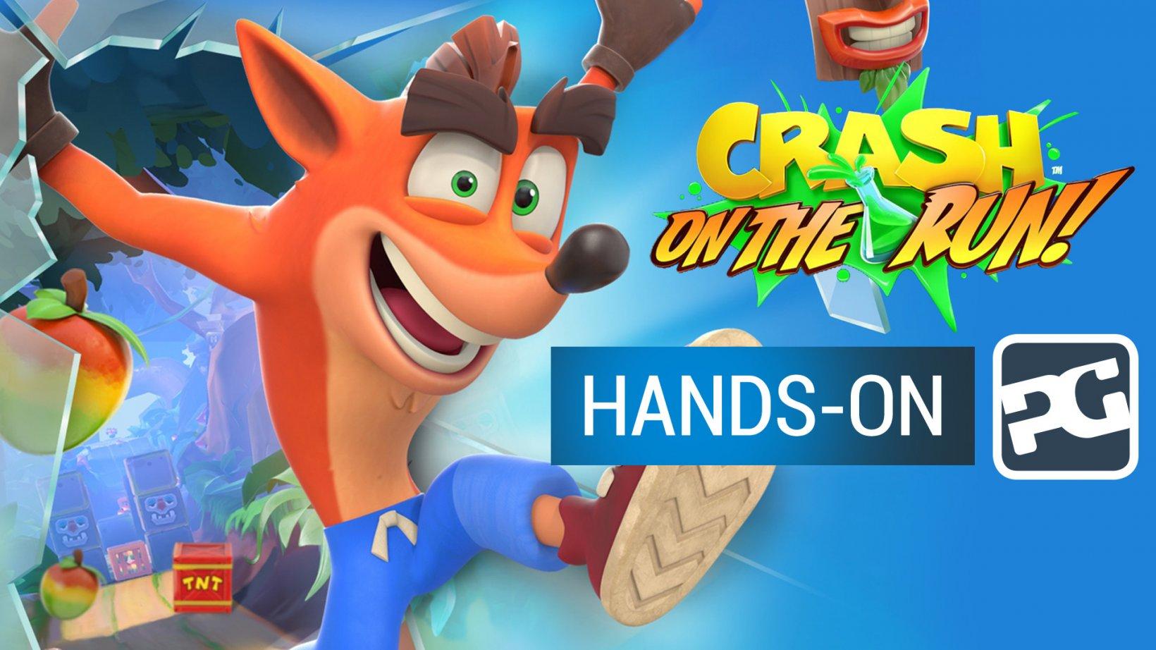 Crash Bandicoot: On The Run gameplay video