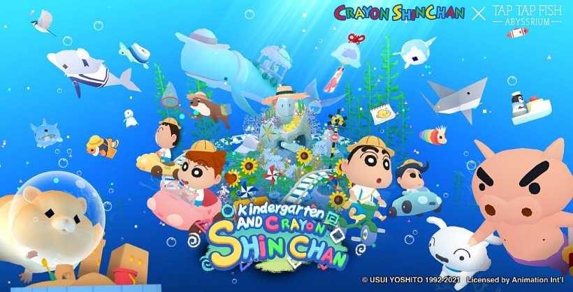 Abyssrium adds new fish and themed characters with Crayon Shin-Chan collaboration event