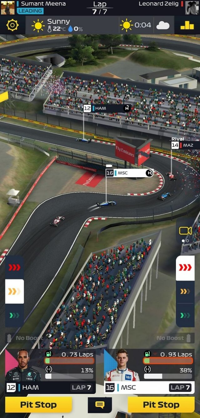 F1 Clash tips for last lap