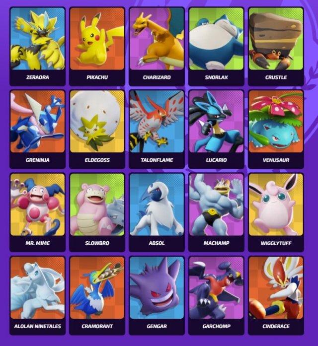 Pokemon Unite tier list