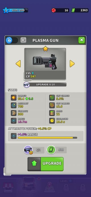 Weapon upgrades