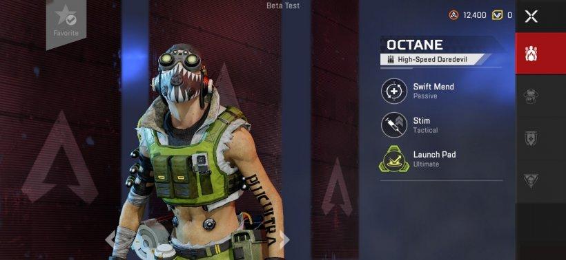 Apex Legends Mobile Octane abilities