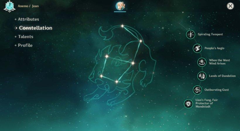 Jean guide - Constellation