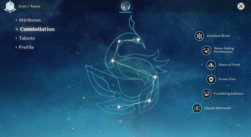 Genshin Impact Kaeya guide Constellation