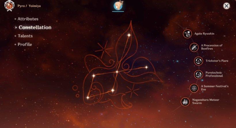 Constellation for Yoimiya