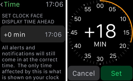 set apple watch five minutes fast