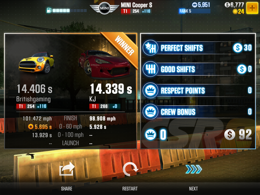 How to tune your car in CSR Racing 2 - tires, nitro, and final drive