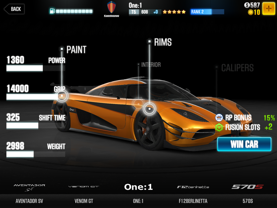 Csr Racing  Fastest Tier Cars