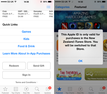 Updated] How to get a New Zealand iTunes account in the UK or US