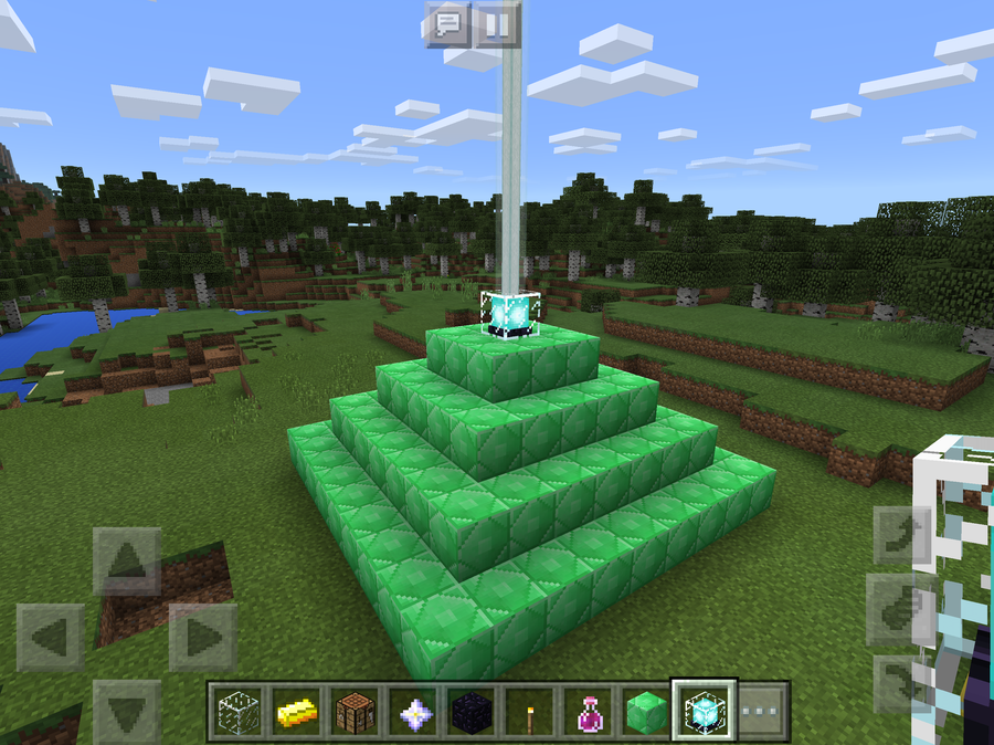 How to make and use a Beacon in Minecraft Pocket Edition (MCPE 0 16