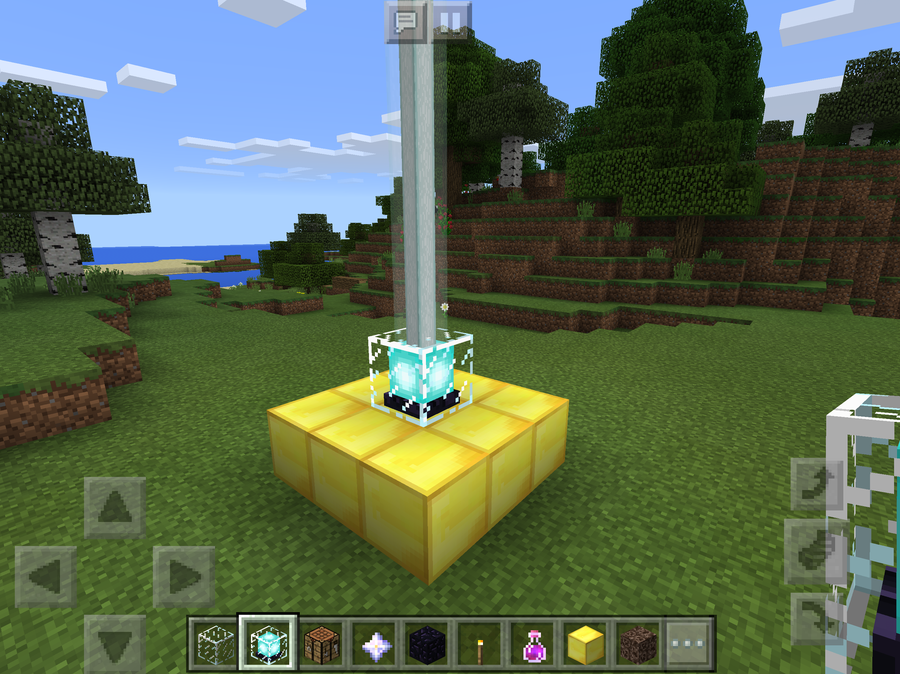 How to make and use a Beacon in Minecraft Pocket Edition