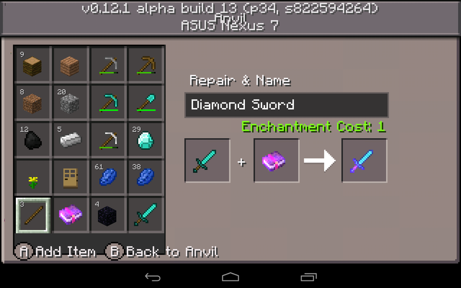 Mcpe Enchantment Table Crafting