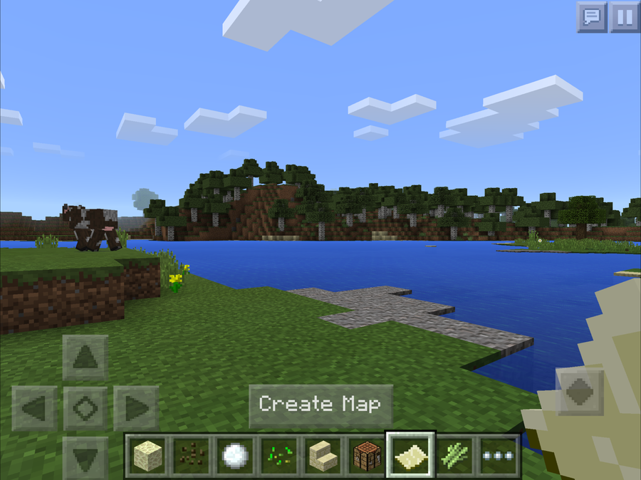 Minecraft Pocket Edition - how to make, use, and zoom out maps