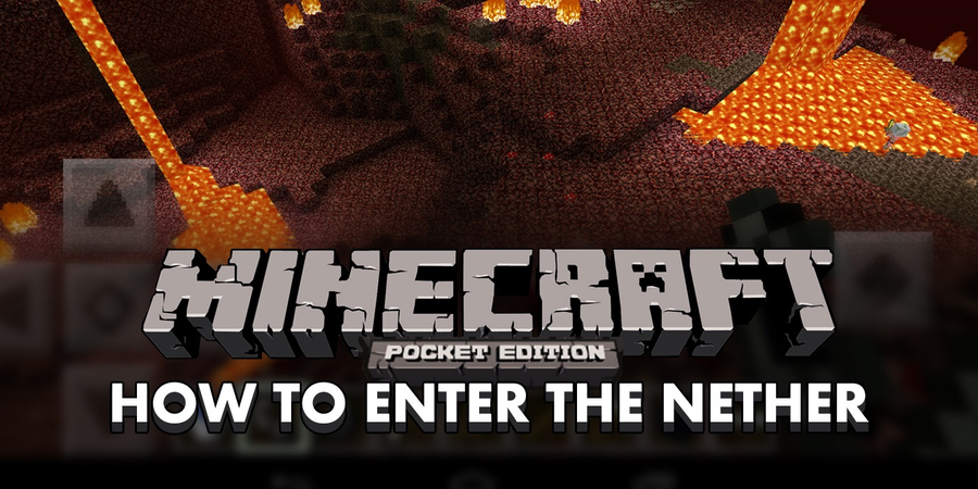 How To Enter The Nether In Minecraft Pocket Edition 012 Tutorial