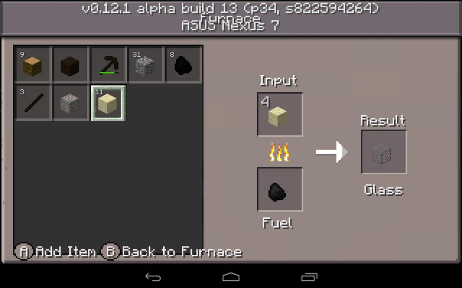 minecraft start text