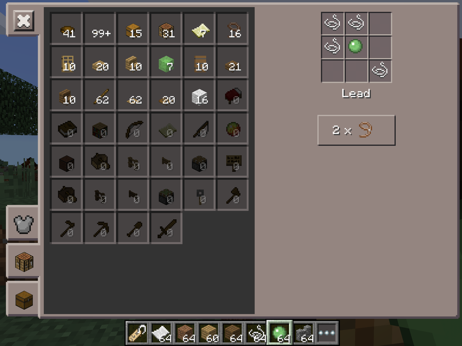 how to make a lead in minecraft. Plain How Donu0027t Want Your Tamed Armoured And Named Horse To Run Away Use The New  Lead Item Keep It By Side You Can Craft One From Four String  And How To Make A Lead In Minecraft