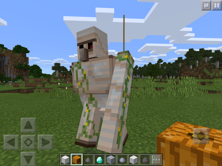 how to build an iron golem statue in minecraft