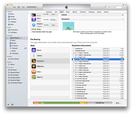 how to get off of iphone using itunes