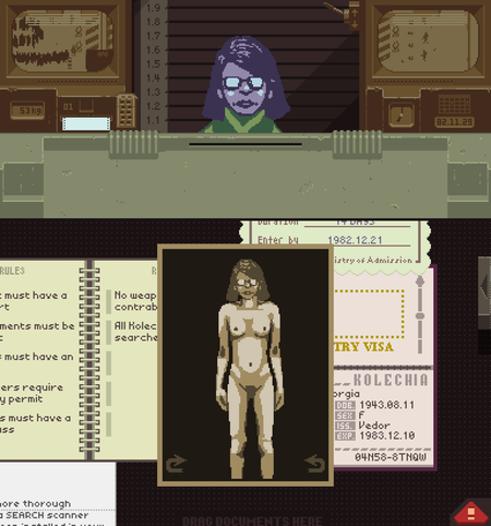 nudity returns to papers please following apple mistake