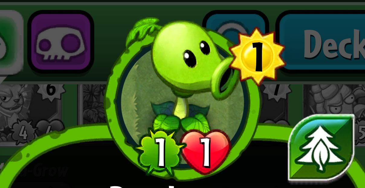 plants vs zombies heroes every plant card mega grow class