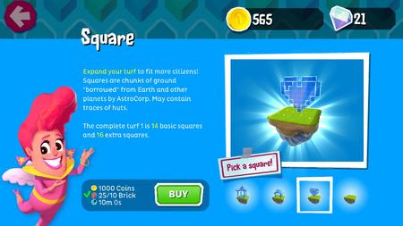 Land squares
